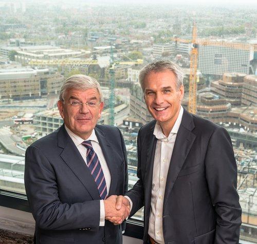 Burgemeester Jan van Zanen en CEO Jeroen Hoencamp